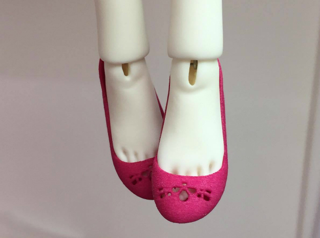 Pumps for Dollessence resin dolls in White Processed Versatile Plastic
