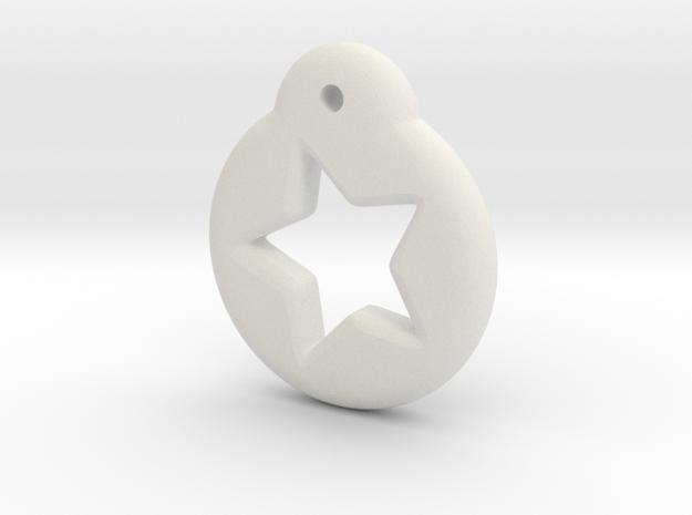Blythe Doll Pullring *Star* in White Natural Versatile Plastic