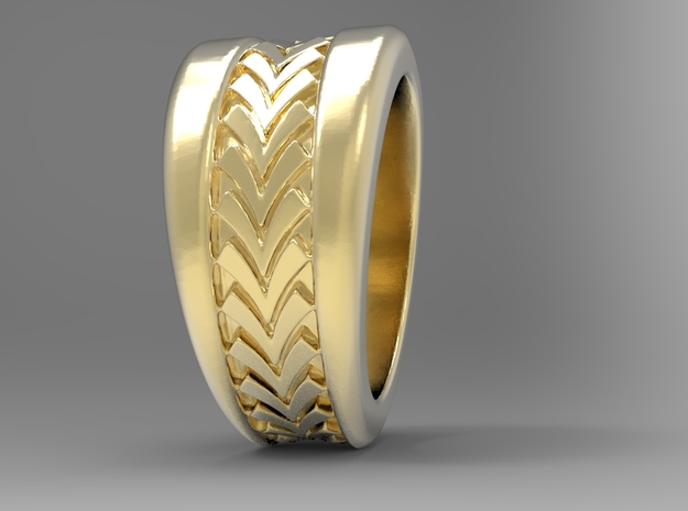 Spruce Ring G in 18k Gold Plated: 10 / 61.5
