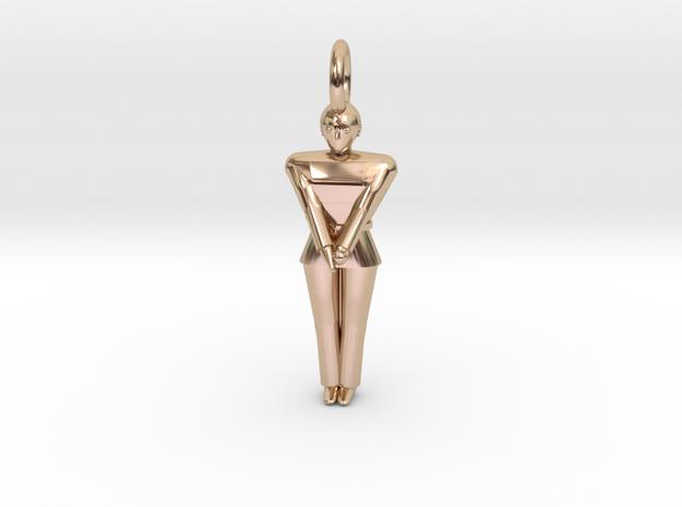 Pendant - Koryo in 14k Rose Gold Plated Brass
