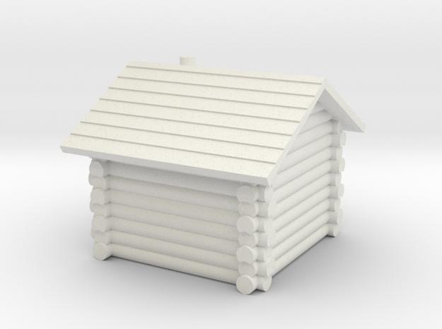 Hütte Tür rechts in White Natural Versatile Plastic