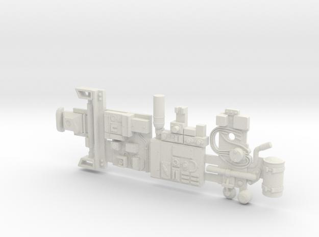 Y-wing Centurion Parts in White Natural Versatile Plastic