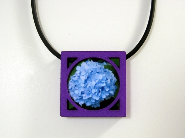 Wearable Gallery Picture Pendant 3d printed Wear your garden