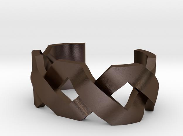 Bracelet Model DF in Polished Bronze Steel
