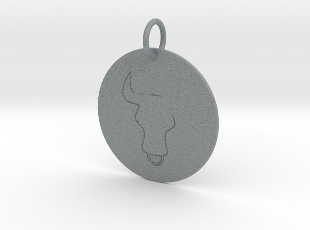 Taurus Keychain in Polished Metallic Plastic