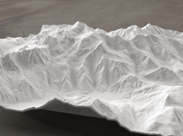 8''/20cm Mt. Blanc, France/Italy in White Natural Versatile Plastic