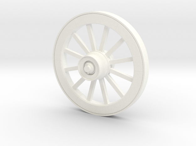 Wagonwheel HD 51in-45-01 in White Strong & Flexible Polished