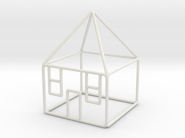 House 3 scale 1-200 10x10x14m in White Natural Versatile Plastic: 1:200