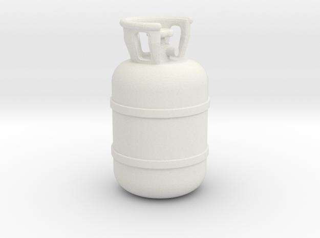 1/20 Scale propane tank in White Natural Versatile Plastic