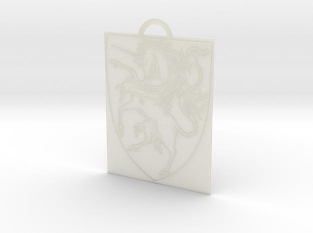 Unicorn Keychain in Transparent Acrylic