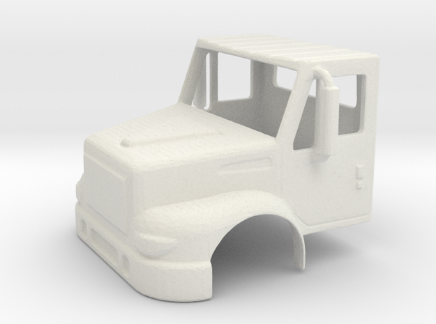 International 2 Door Day Cab 1-87 HO Scale in White Natural Versatile Plastic