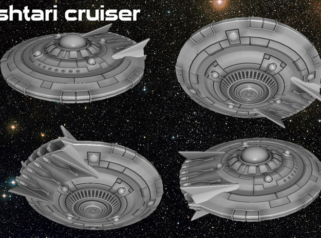 Ishtari Attack Cruiser 3d printed
