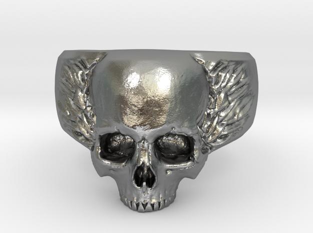 Small Skull in Natural Silver