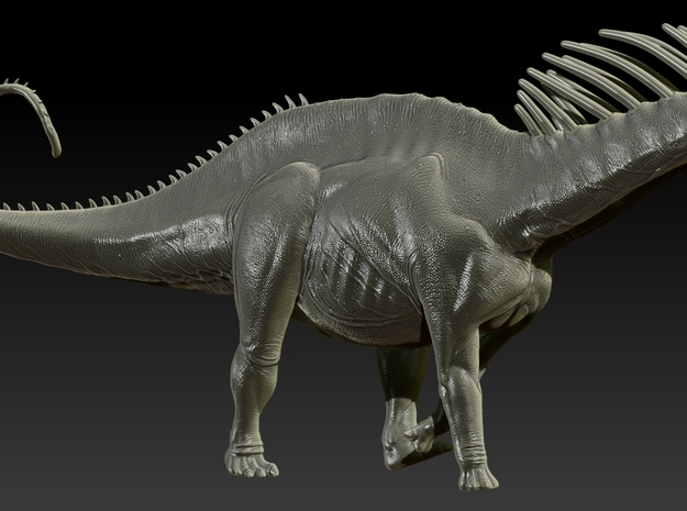 1/40 Amargasaurus - Walking 3 in White Natural Versatile Plastic
