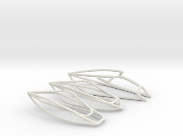 Boats 3x Scale 1-100 in White Natural Versatile Plastic: 1:100