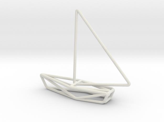 Sailing Boat Scale 1-200 in White Natural Versatile Plastic: 1:200