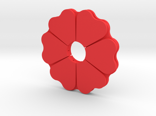 Poppy Spinner in Red Strong & Flexible Polished
