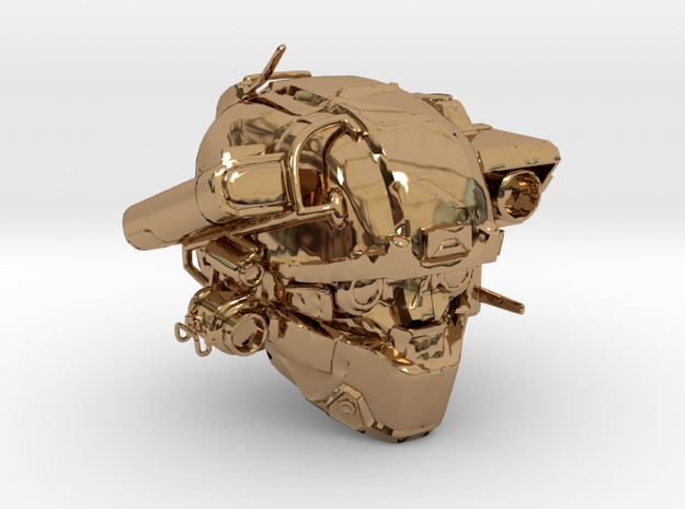 Halo 5 Argus/linda helmet mcfarlane scale in Polished Brass