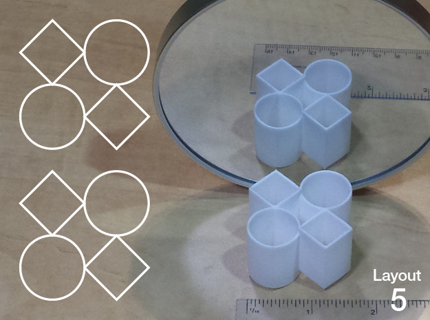 Improved Ambiguous Cylinder Illusion (Layout 5) in White Natural Versatile Plastic