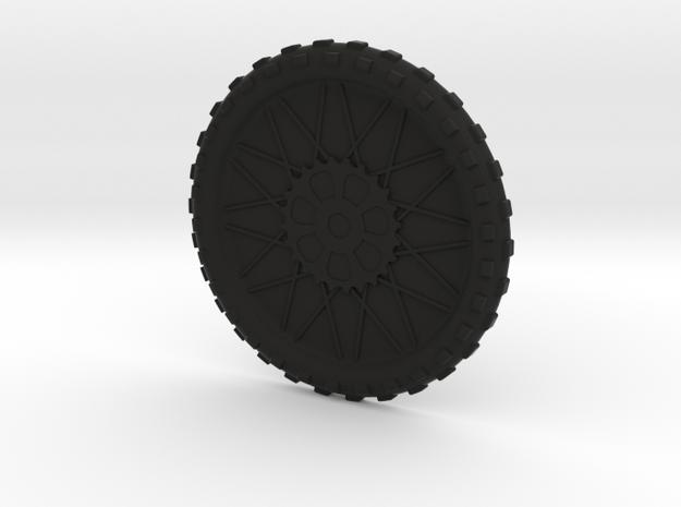 Motorcycle wheel and tire beverage coaster, large in Black Natural Versatile Plastic