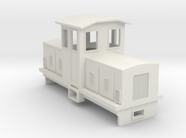 009 Electric Centrecab Locomotive (Jennifer 1) in White Strong & Flexible