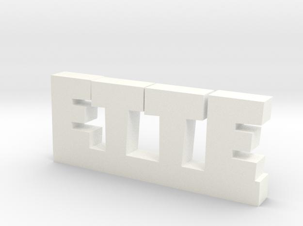 ETTE Lucky in White Processed Versatile Plastic