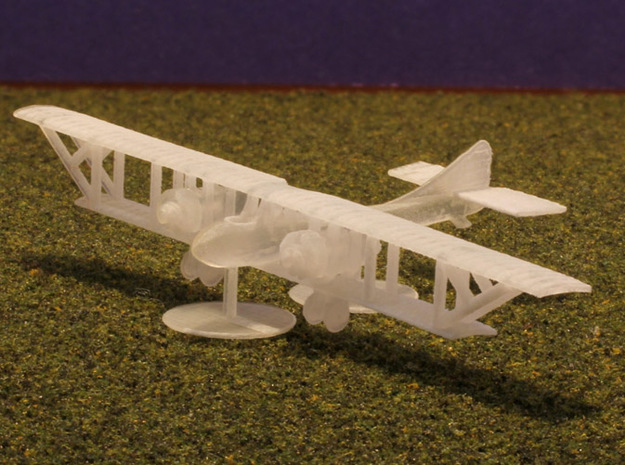 Caudron G.6 3d printed 1:288 Caudron G6 print, with prop disks as stand