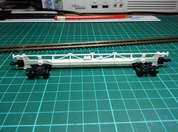 2 * KFA Wagon N Gauge 1:148 3d printed KFA Side