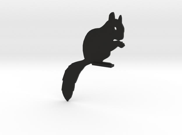 Door Squirrel in Black Natural Versatile Plastic