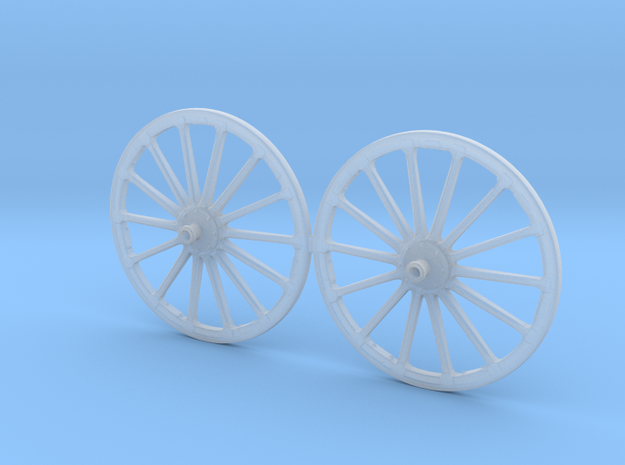 French WWI Era Wheel Set 54mm  in Smooth Fine Detail Plastic