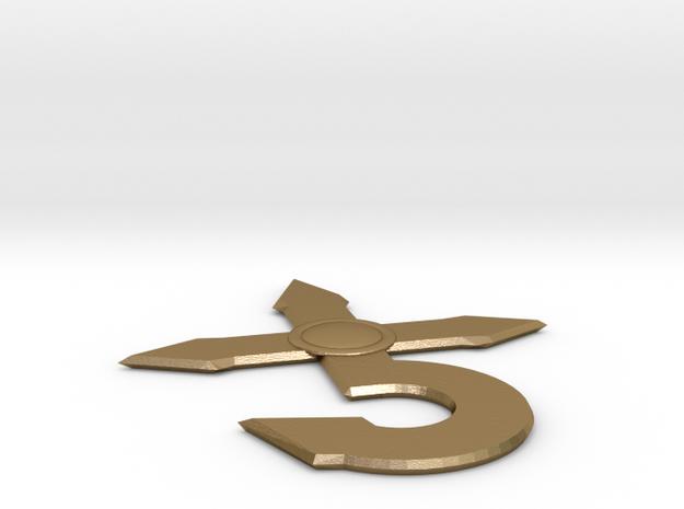 Blue Oyster Cult logo v2 in Polished Gold Steel