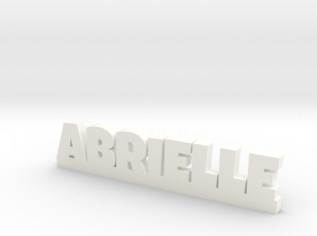 ABRIELLE Lucky in White Processed Versatile Plastic