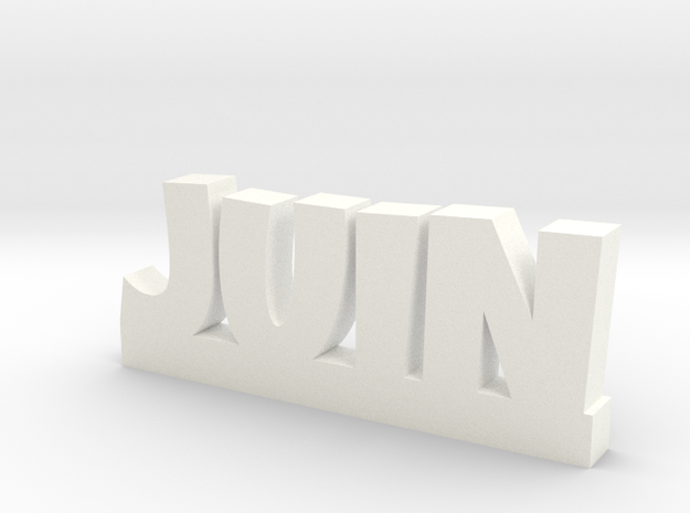 JUIN Lucky in White Processed Versatile Plastic