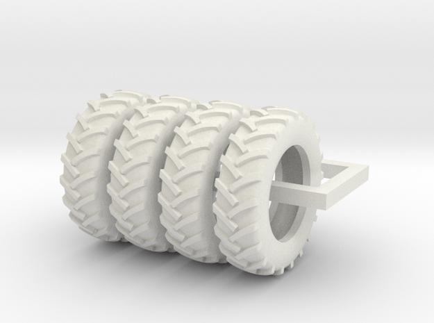 1/64 Scale 18.4R38 tires in White Natural Versatile Plastic