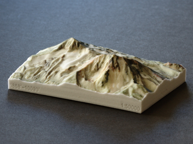 North and Middle Sister, Oregon, USA, 1:50000 in Full Color Sandstone