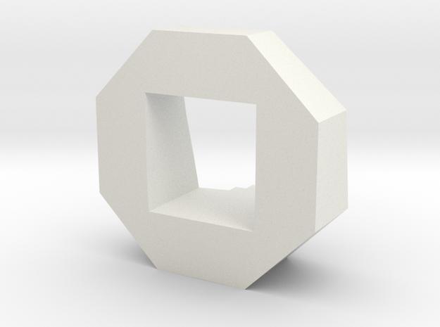 Objective Marker in White Natural Versatile Plastic