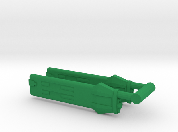KWA Type A Klingon Warp Nacelle in Green Processed Versatile Plastic
