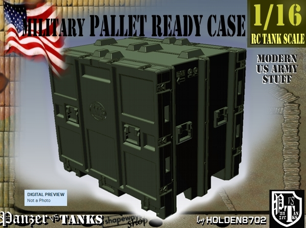 1-16 MM08 Pallet Ready Case in Green Strong & Flexible Polished