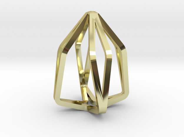 House Line Pendant in 18k Gold Plated Brass