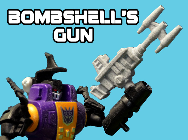 Bombshell's Gun, 5mm in White Strong & Flexible