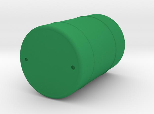 Metal Drum Barrel in Green Processed Versatile Plastic: 1:48 - O