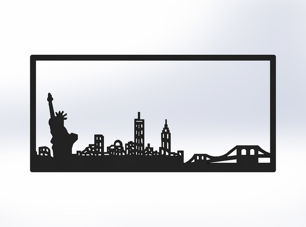 New York Skyline - 2.75 X 5.75 (S) in White Natural Versatile Plastic