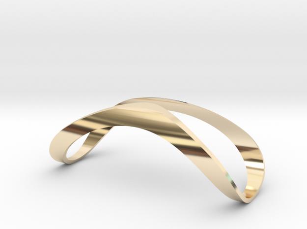 Finger Splint Open Top Jewelry in 14k Gold Plated Brass