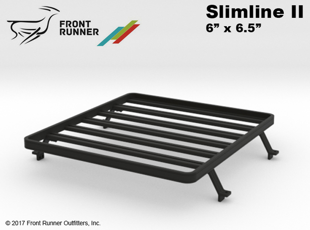 FR10018 SR5 Slimline II Bed Rack 6.0 x 6.5 in Black Strong & Flexible