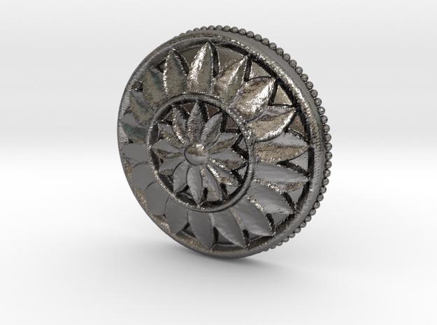 MultiFlower Pendant  in Polished Nickel Steel