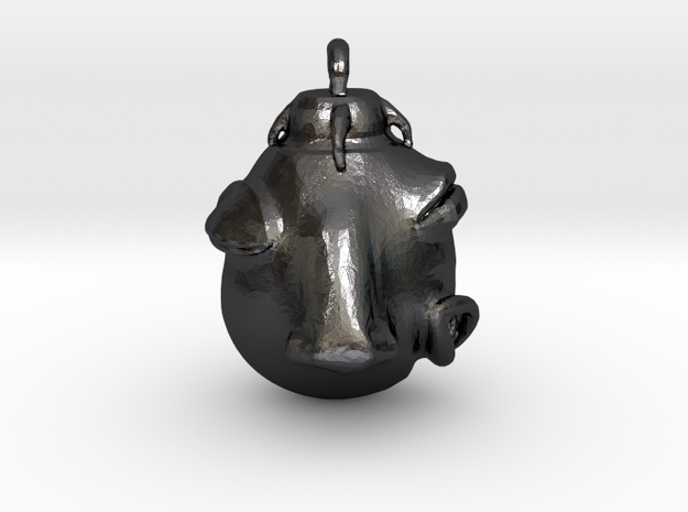 Egg of the King in Polished Grey Steel