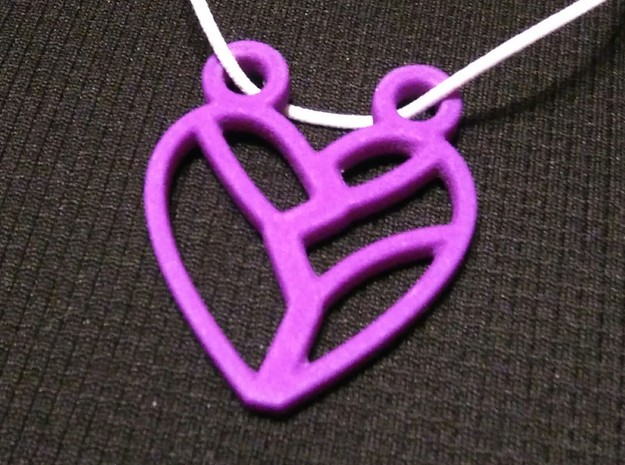 Heart Strung in Purple Strong & Flexible Polished