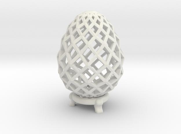 Pane Easter Egg in White Natural Versatile Plastic