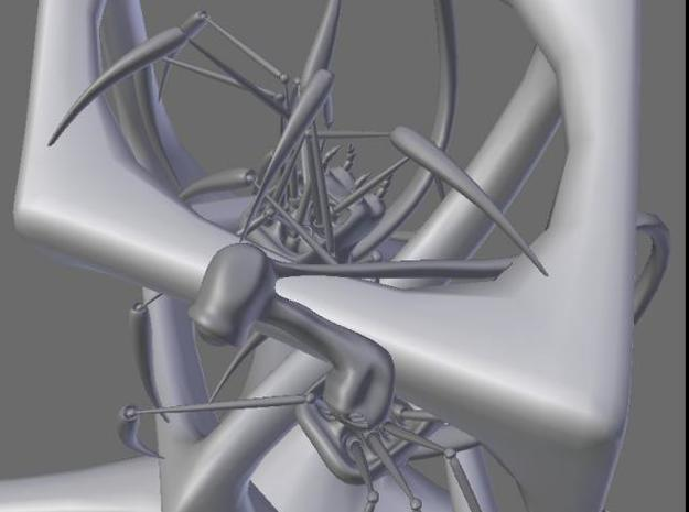 Phone Spiders on Impossible Object 3d printed closeup