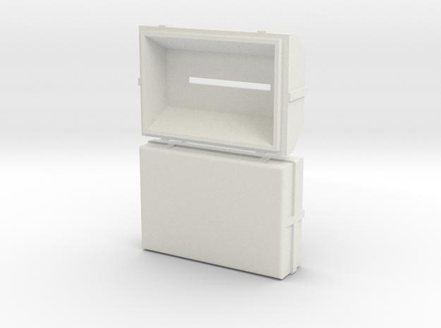 Treasurebox Print in White Natural Versatile Plastic